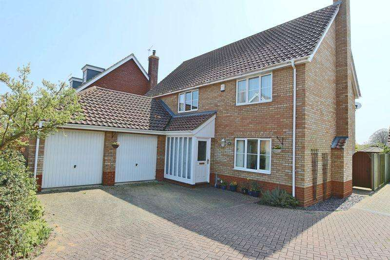 4 Bedrooms Detached House for sale in Rushton Drive, Lowestoft