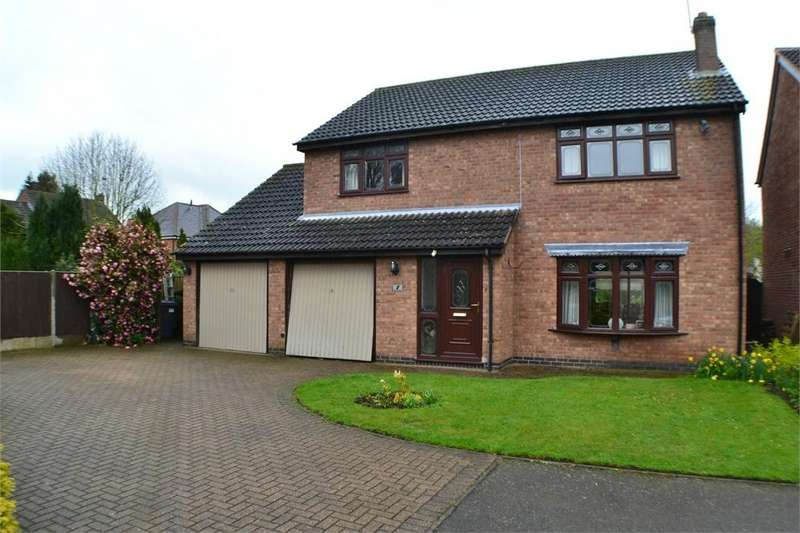 4 Bedrooms Detached House for sale in Pinetree Close, Newbold Verdon, Leicestershire