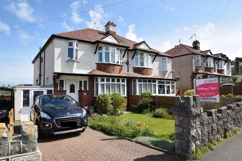 4 Bedrooms Semi Detached House for sale in Llandudno Road, Rhos On Sea