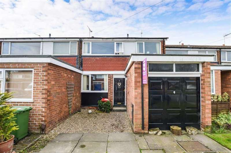 3 Bedrooms Terraced House for sale in Norbury Close, Knutsford, Cheshire, WA16