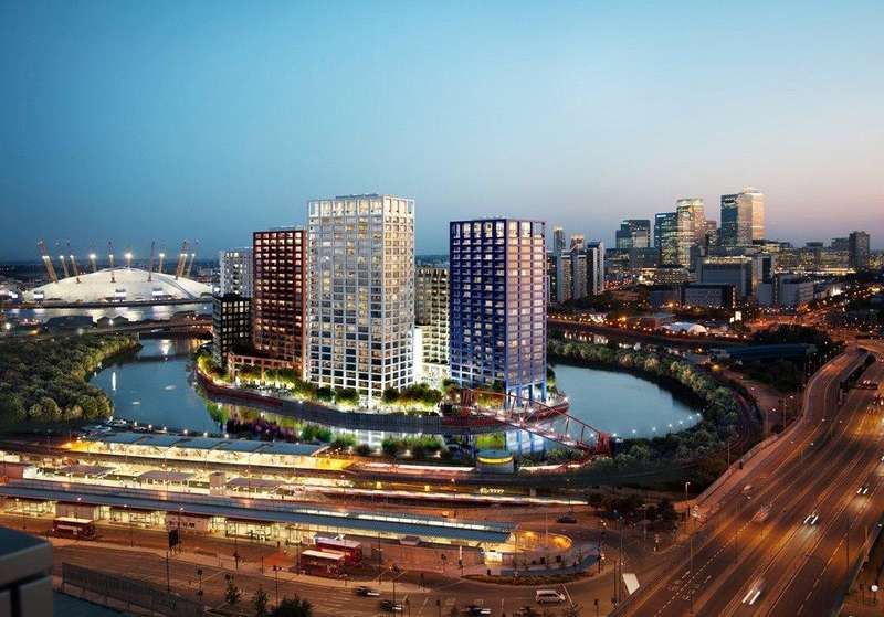 3 Bedrooms Apartment Flat for sale in Dawsonne House, London City Island, E14