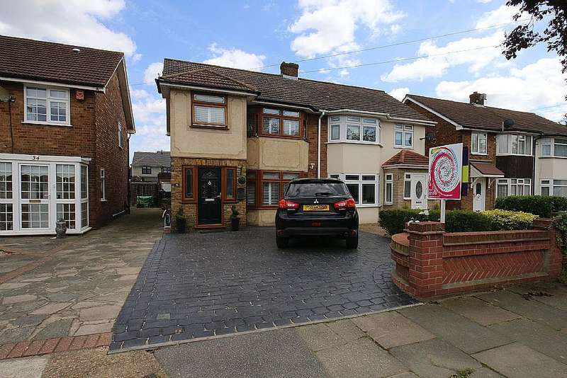 3 Bedrooms Semi Detached House for sale in Lovell Walk, Rainham, Essex, RM13 7ND