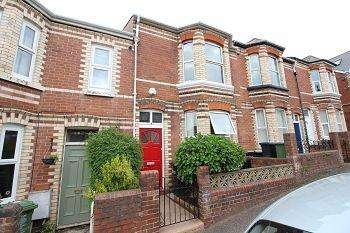 3 Bedrooms Terraced House for sale in Monkswell Road, Mount Pleasant, Exeter, EX4 7AX
