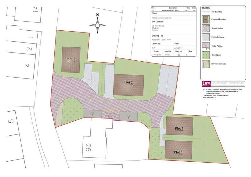 Plot Commercial for sale in Site Of Rainbow House, 78 New Road, Madeley, Telford, TF7