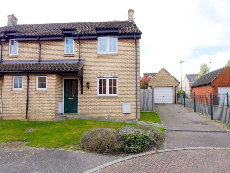 3 Bedrooms Semi Detached House for rent in Clearwing Close, Pinewood, Ipswich, Suffolk, IP8 3UJ