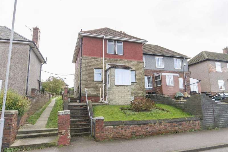 3 Bedrooms Semi Detached House for sale in Sycamore Road, Hollingwood, Chesterfield