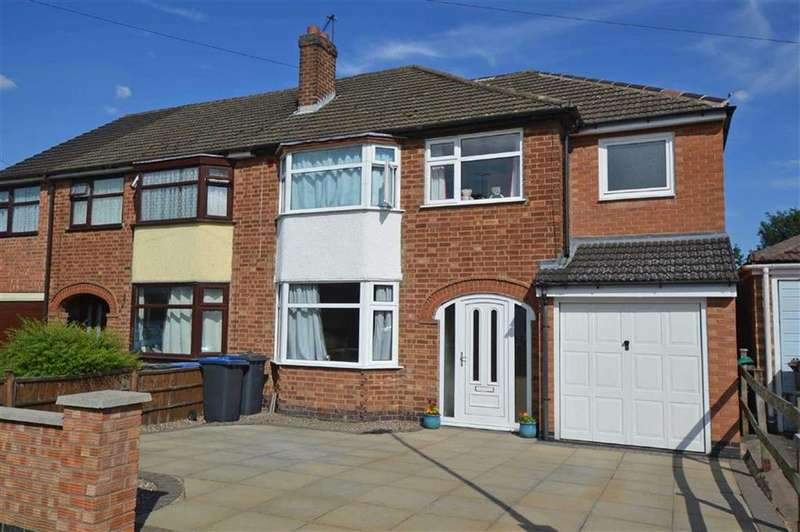 4 Bedrooms Semi Detached House for sale in Marina Drive, Groby