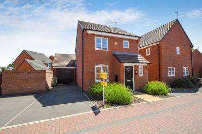 3 Bedrooms Detached House for sale in Baum Crescent, Stoney Stanton, Leicester, Leicestershire