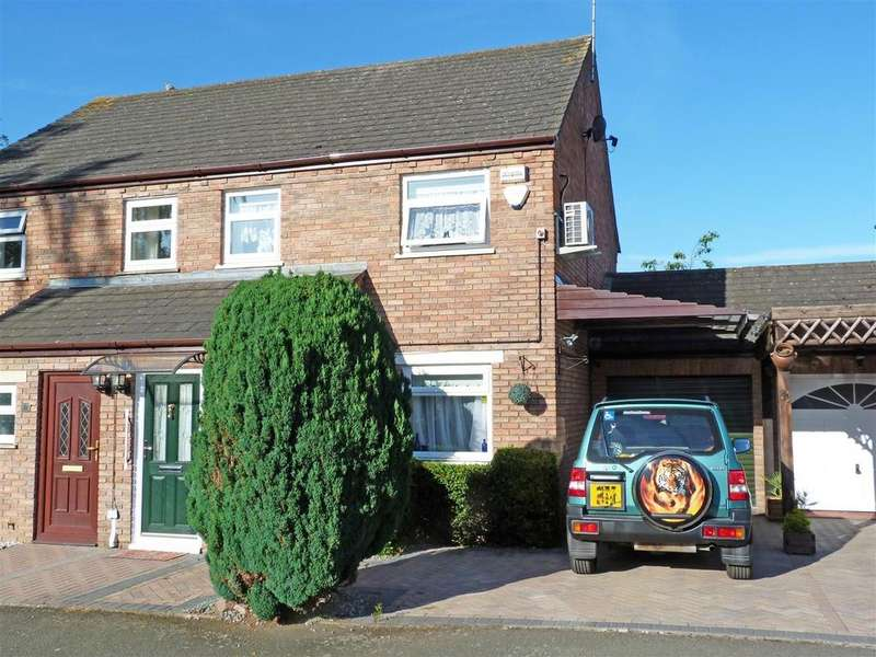 3 Bedrooms Semi Detached House for sale in Glastonbury Close, Belmont, Hereford, HR2