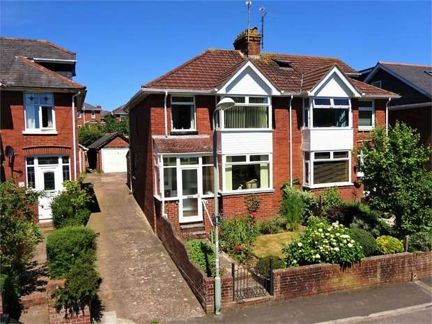 3 Bedrooms Semi Detached House for sale in Lymeborne Avenue, Heavitree, EXETER, Devon