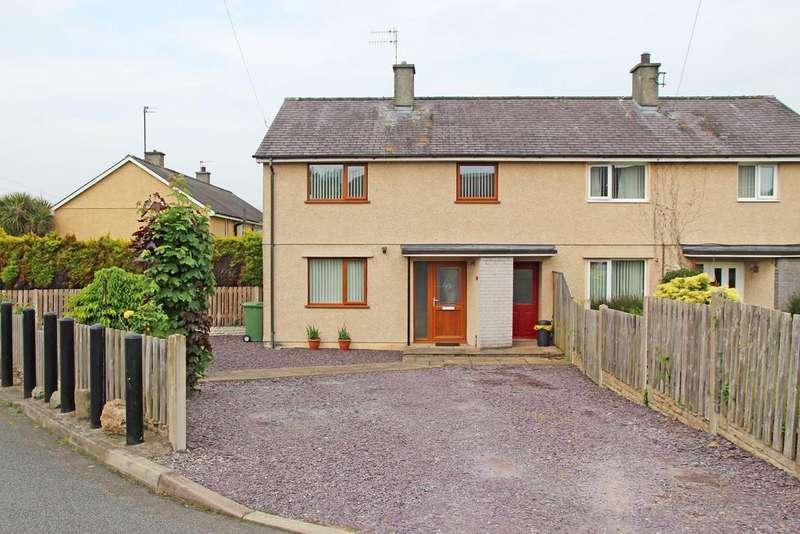 3 Bedrooms Semi Detached House for sale in Maes Y Waen, Llanfairpwll, North Wales