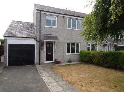3 Bedrooms Semi Detached House for sale in Bro Eglwys, Bethel, Caernarfon, LL55