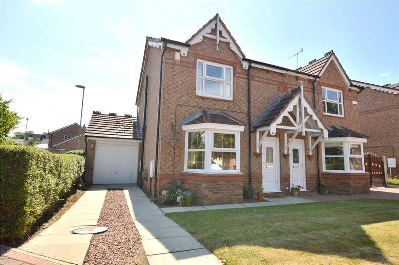 3 Bedrooms Semi Detached House for sale in Westminster Close, Rodley, Leeds, West Yorkshire