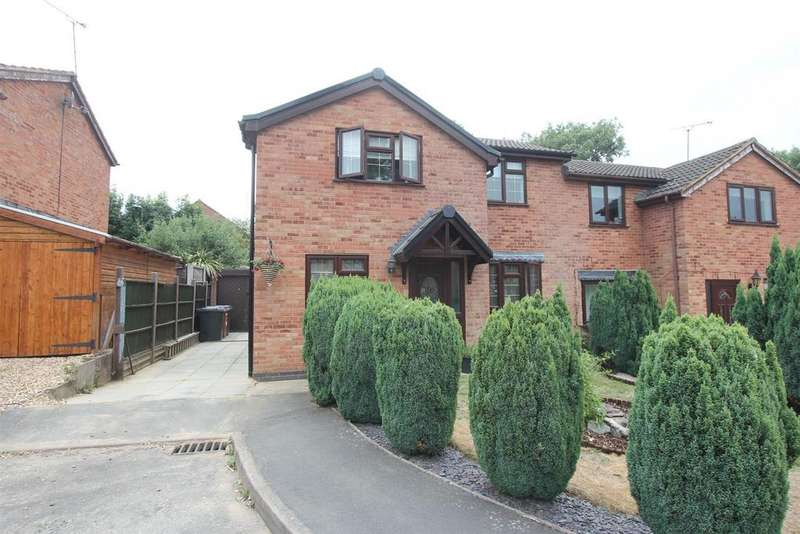 3 Bedrooms Semi Detached House for sale in Cottage Gardens, Earl Shilton, Leicester
