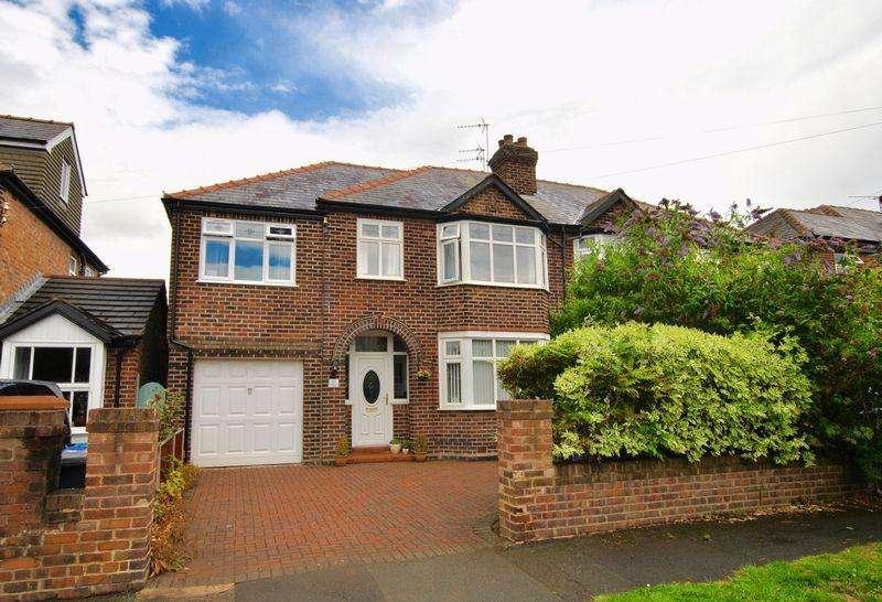 4 Bedrooms Semi Detached House for sale in Carlingford Road, Stockton Heath, WA4 6SA