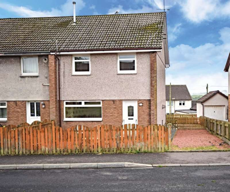 3 Bedrooms Semi Detached House for sale in Glencraig Street, Drongan, East Ayrshire, KA6 7AS