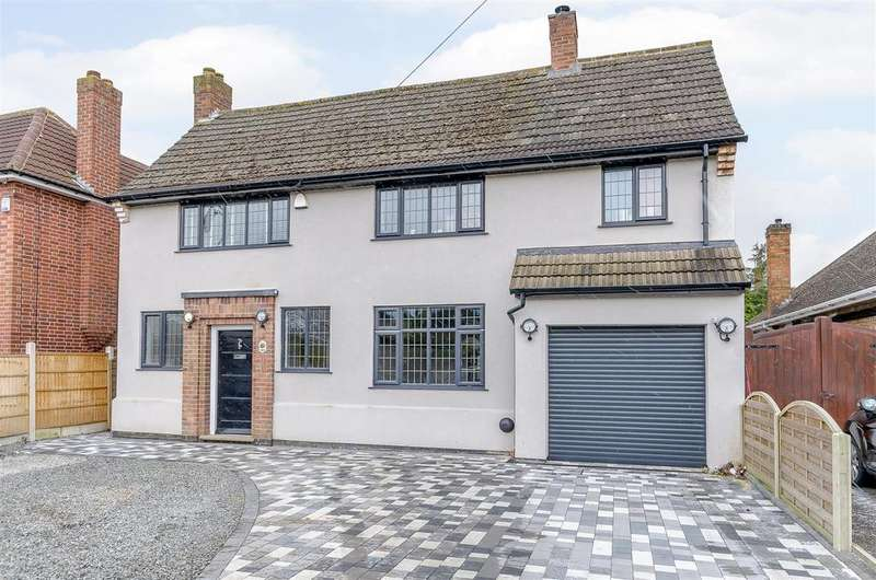 4 Bedrooms Detached House for sale in Sapcote Road, Burbage, Hinckley