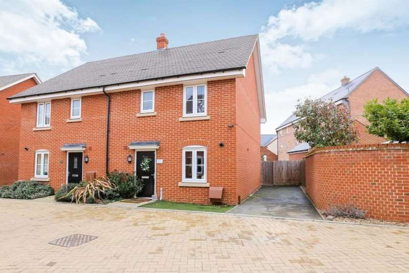3 Bedrooms Semi Detached House for sale in South Meadow, Marston Moretaine, Bedford, MK43