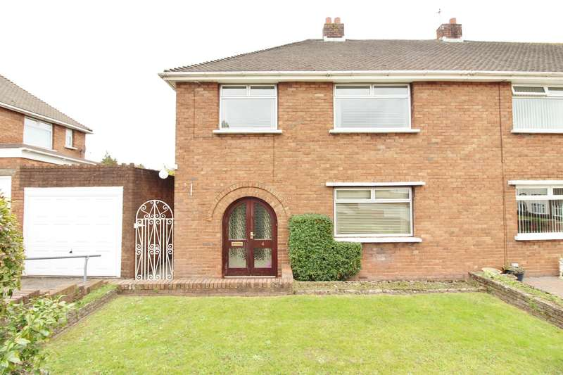 3 Bedrooms Semi Detached House for sale in Swinburne Close, Newport, NP19