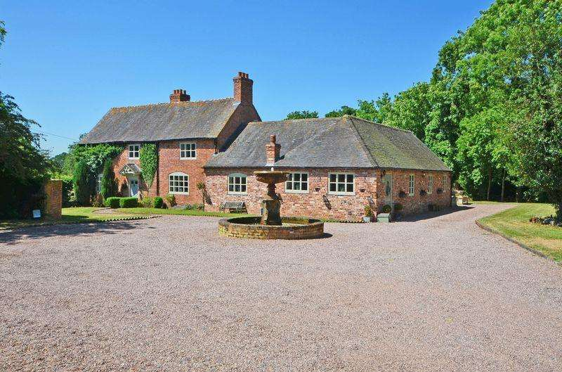 5 Bedrooms Detached House for sale in Booden Hall, Church Eaton Road, Haughton, Staffordshire. ST18 9JG