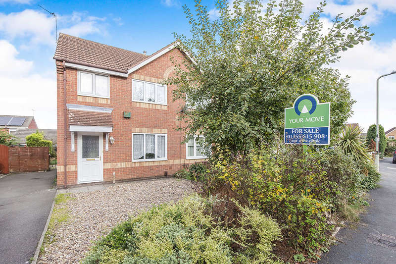 3 Bedrooms Semi Detached House for sale in Turner Drive, Hinckley, LE10
