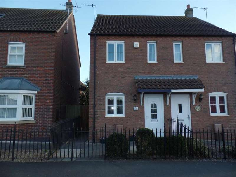 2 Bedrooms Semi Detached House for sale in Thomas Kitching Way, Bardney, Lincoln