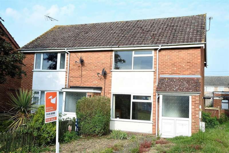 2 Bedrooms Semi Detached House for sale in Troughton Walk, South Witham, Grantham