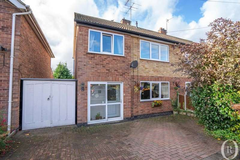 3 Bedrooms Semi Detached House for sale in Queensgate Drive, Birstall, Leicester