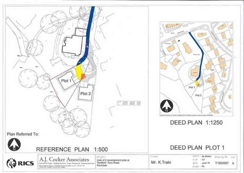 Land Commercial for sale in BUILDING PLOT, Plot 1 At Ryefield, Bamford, Rochdale, OL11