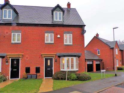 4 Bedrooms Semi Detached House for sale in Plum Crescent, Burbage, Hinckley, Leicestershire