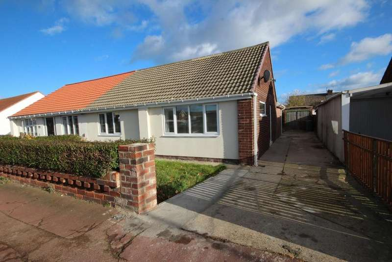 2 Bedrooms Semi Detached Bungalow for sale in Catcote Road, Hartlepool