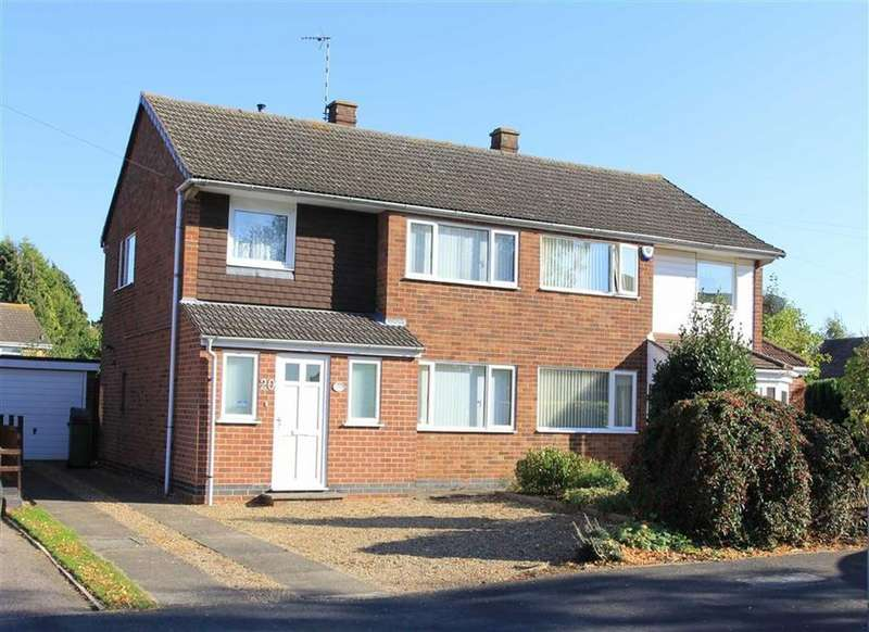 3 Bedrooms Semi Detached House for sale in Springwell Drive, Countesthorpe, Leicestershire