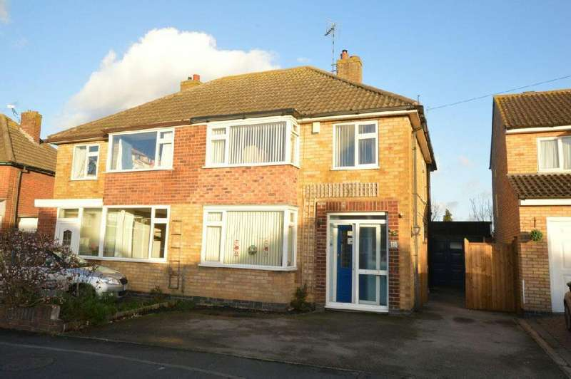3 Bedrooms Semi Detached House for sale in Edgeley Road, Countesthorpe, Leicester
