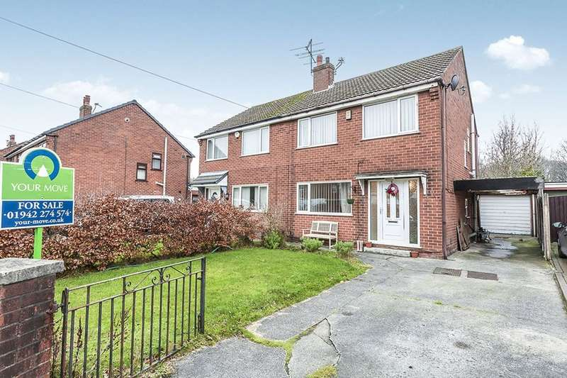 3 Bedrooms Semi Detached House for sale in Old Hall Drive, Ashton-In-Makerfield, Wigan, WN4