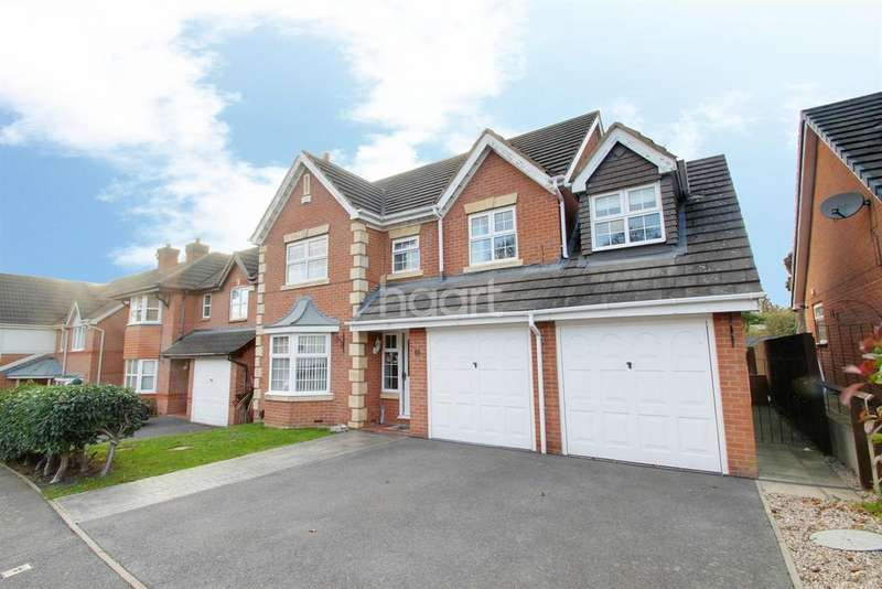 5 Bedrooms Detached House for sale in Allerton Drive, Heathley Park, Leicester