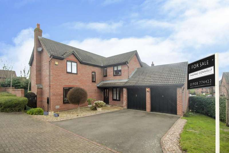 4 Bedrooms Detached House for sale in Angora Close, Shenley Brook End, Milton Keynes MK5