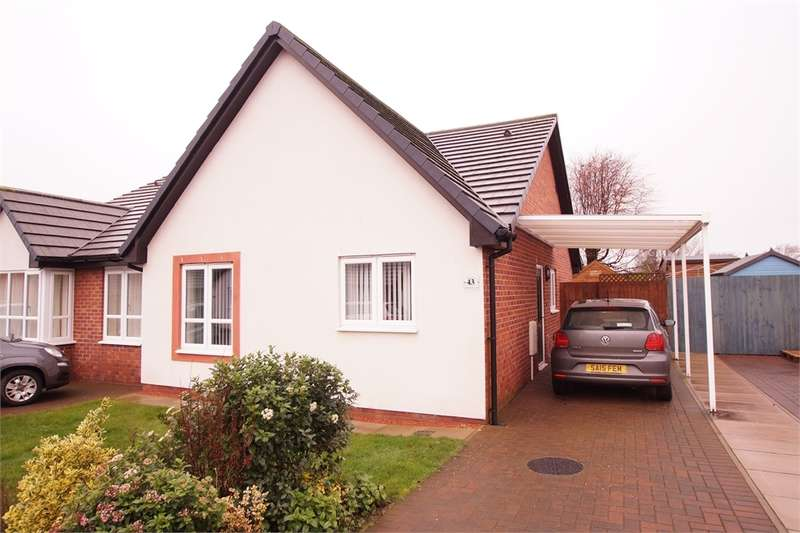 2 Bedrooms Semi Detached Bungalow for sale in CA6 5NZ Sycamore Drive, Longtown, Carlisle, Cumbria