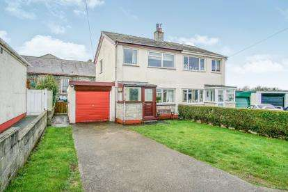 3 Bedrooms Semi Detached House for sale in Treaserth Estate, Llangaffo, Anglesey, North Wales, LL60