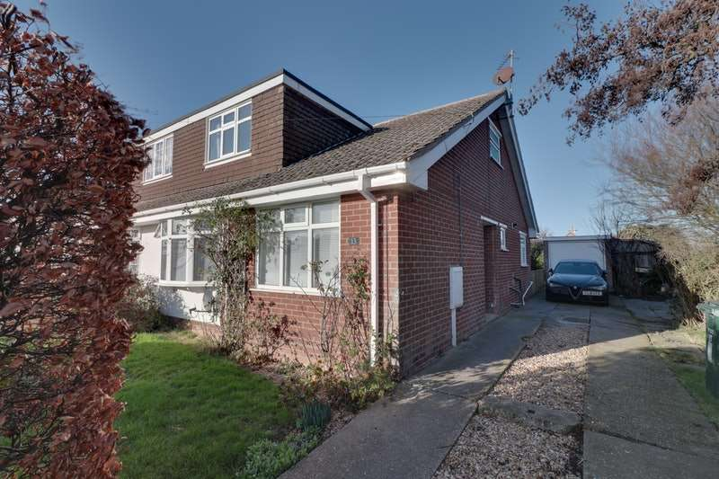 3 Bedrooms Semi Detached House for sale in Chanctonbury Way, Sutton On Sea, Lincolnshire, LN12