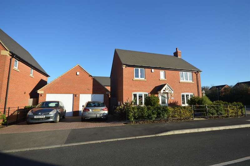 4 Bedrooms Detached House for sale in Poppy Road, Lutterworth, Leicestershire, LE17 4UW