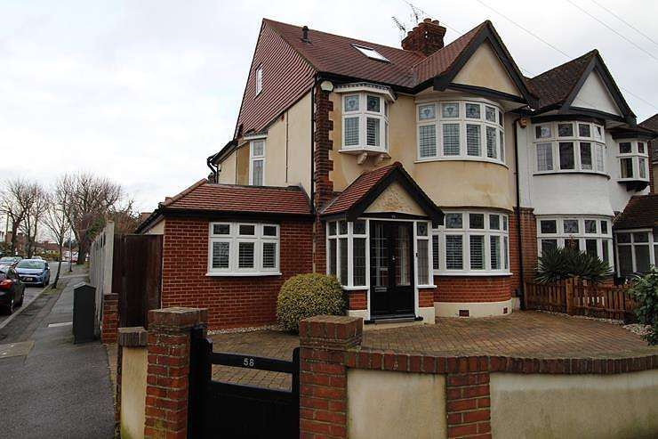 4 Bedrooms Semi Detached House for sale in Gaynes Park Road, Upminster, Essex, RM14