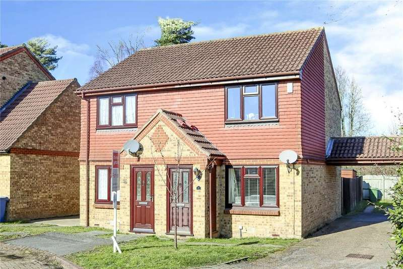 2 Bedrooms Semi Detached House for sale in Cabin Moss, Forest Park, Bracknell, Berkshire, RG12