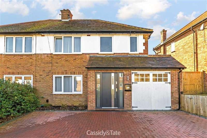 4 Bedrooms Semi Detached House for sale in Pondfield Crescent, St Albans, Hertfordshire