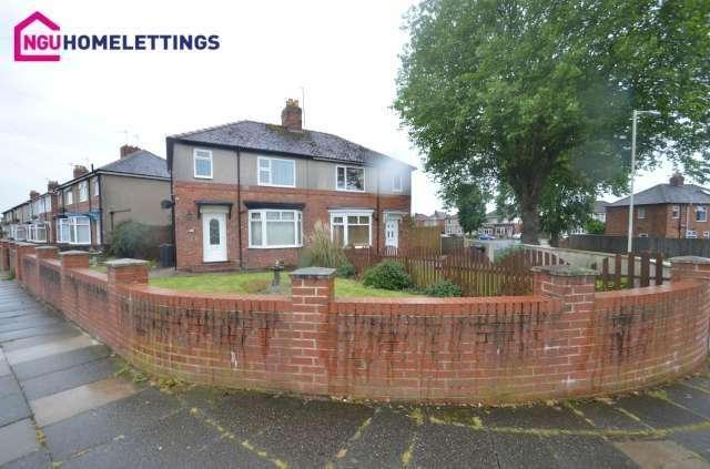 3 Bedrooms Semi Detached House for rent in Bensham Road, Darlington, DL1