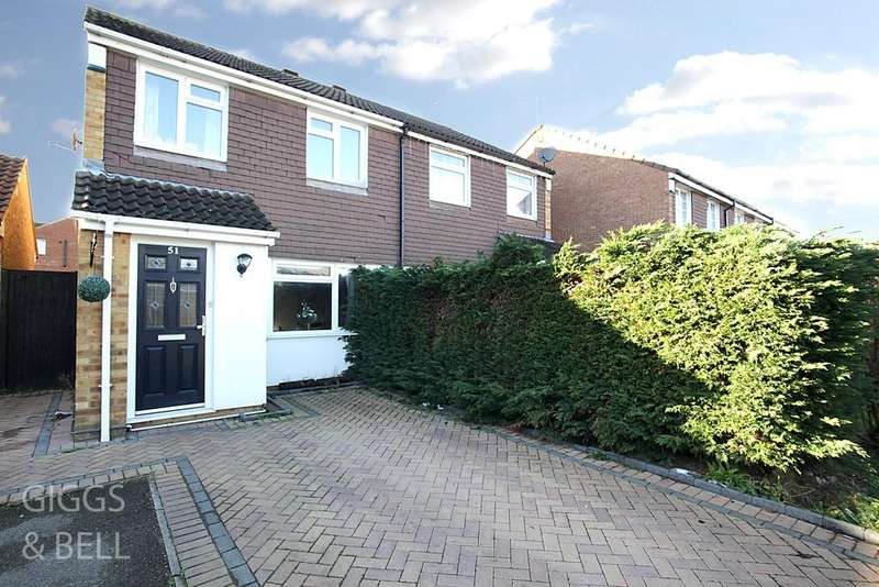 3 Bedrooms Semi Detached House for sale in Coltsfoot Green, Birds Estate, Luton, LU4