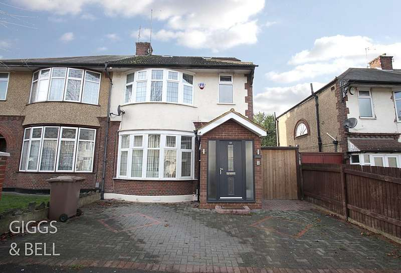 4 Bedrooms Semi Detached House for sale in St Monicas Avenue, Luton, Bedfordshire, LU3