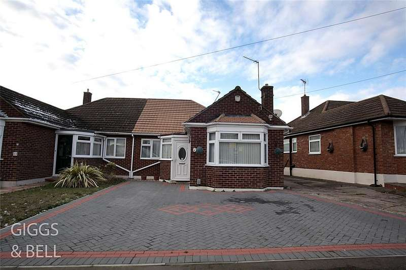 3 Bedrooms Semi Detached Bungalow for sale in Cranbrook Drive, Luton, Bedfordshire, LU3