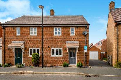 3 Bedrooms Semi Detached House for sale in Swan Road, Wixams, Bedford, Bedfordshire