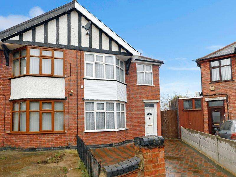 3 Bedrooms Semi Detached House for sale in Crown Hills Rise, Leicester