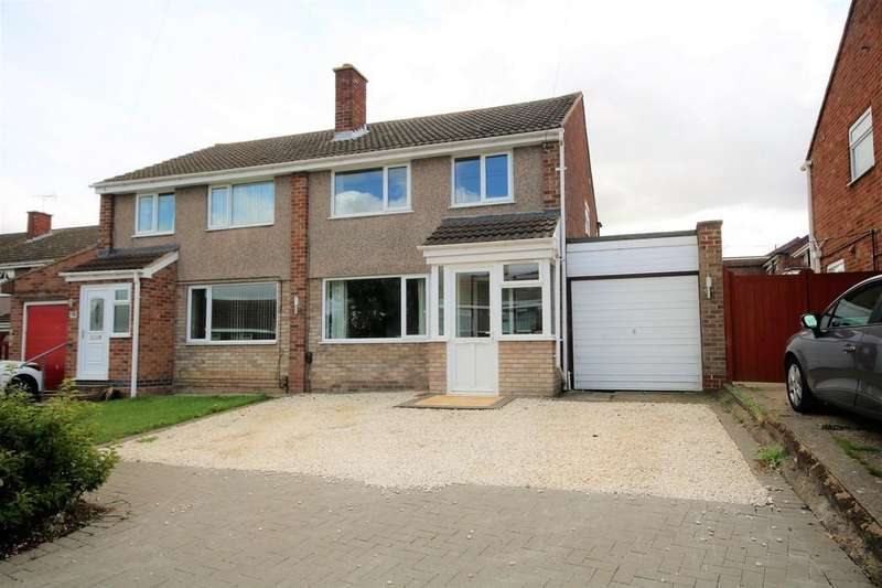 3 Bedrooms Semi Detached House for sale in Sapcote Drive, Melton Mowbray